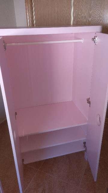 Imagen producto Armario infantil niña Ikea busunge rosa 2