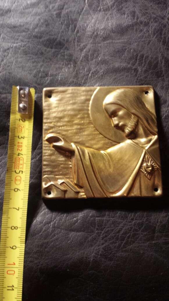 Imagen producto Cuadrado jesus entrada puerta metal  3