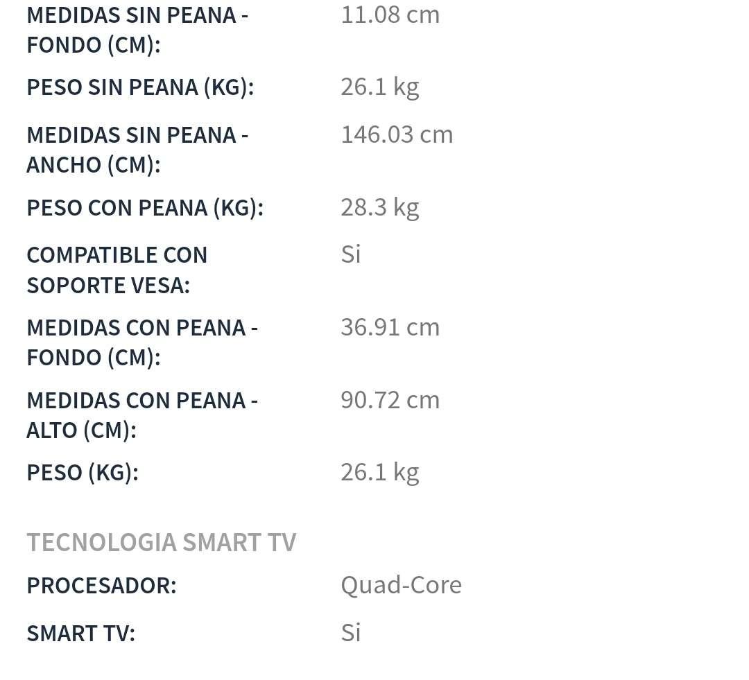 Imagen producto Samsung smart tv 65