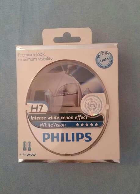 Imagen producto Bombillas Philips White Vision H7 1