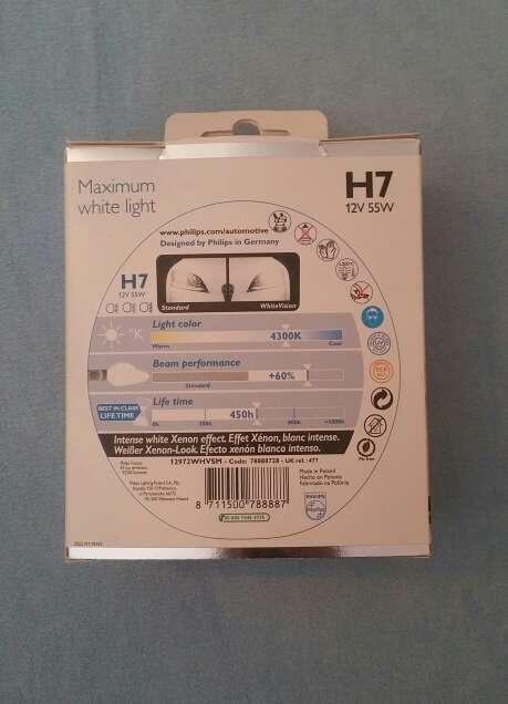 Imagen producto Bombillas Philips White Vision H7 2