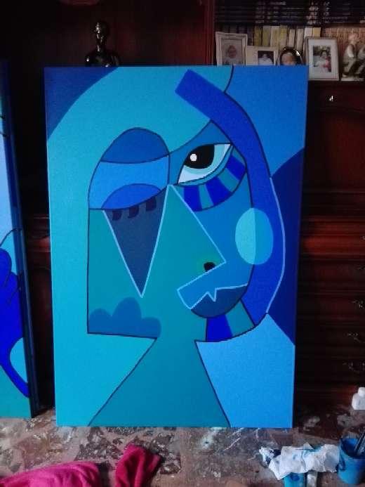 Imagen producto Cuadro abstracto azul 3
