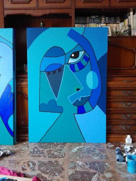 Imagen producto Cuadro abstracto azul 2