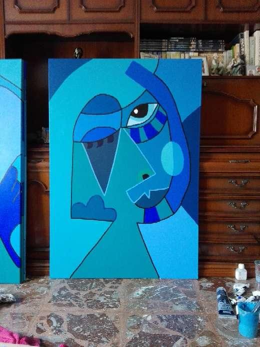 Imagen Cuadro abstracto azul