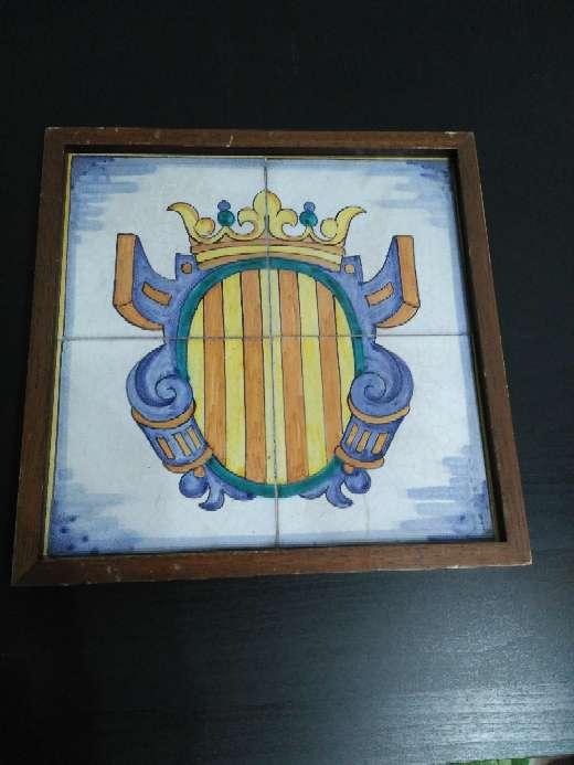 Imagen Senyera sobre cerámica