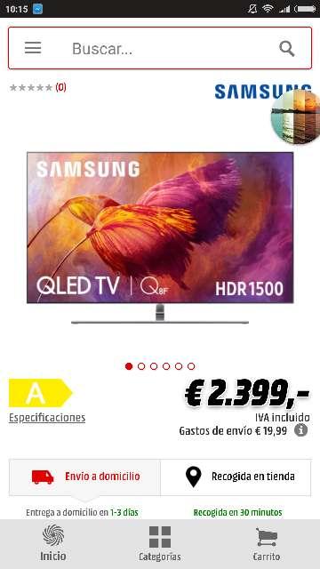 Imagen Samsung Q8F 65 tele