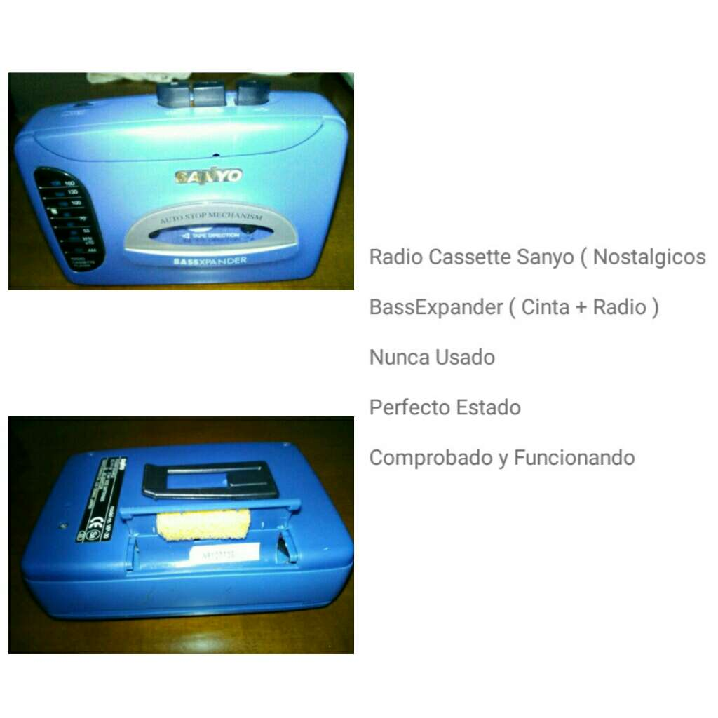 Imagen Radio Cassette Sanyo ( Nunca Usado )
