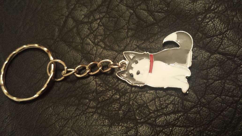 Imagen llavero perro gris
