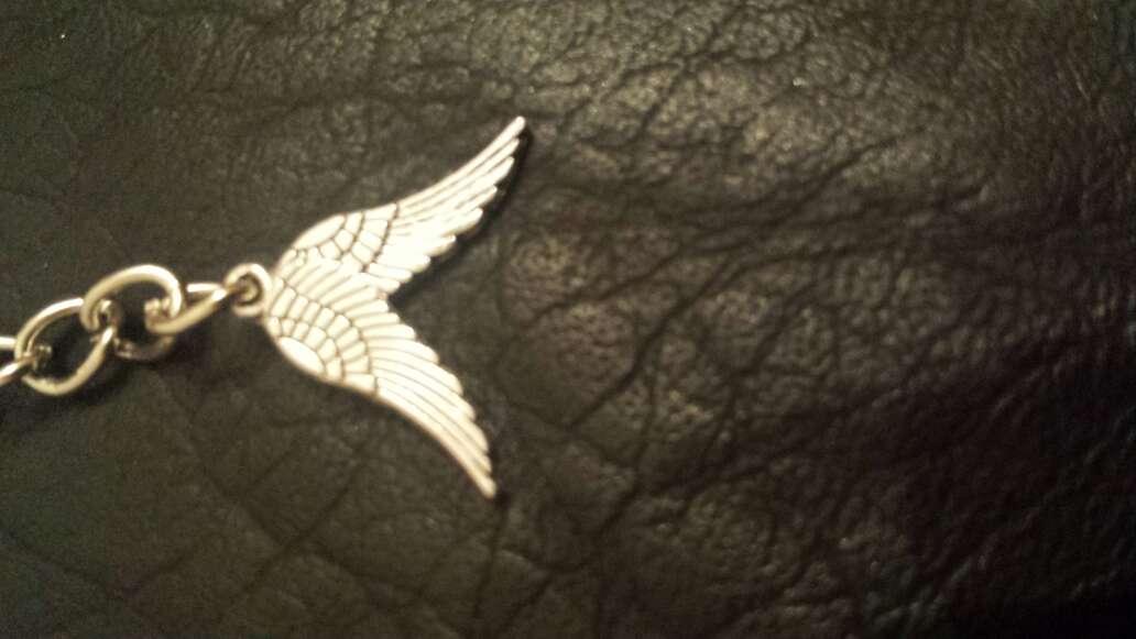Imagen producto Llavero con 2 alas de ángel  2