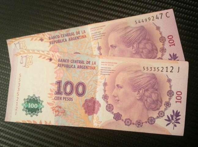 Imagen pesos evita peron. argentina
