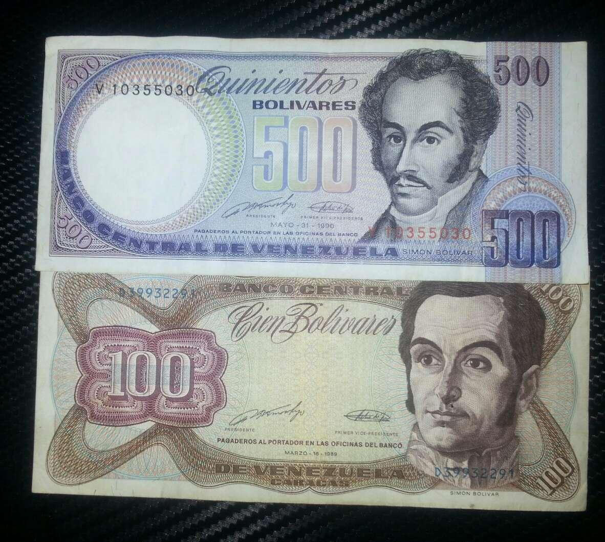Imagen producto Pesos y bolívares billetes del mundo  6
