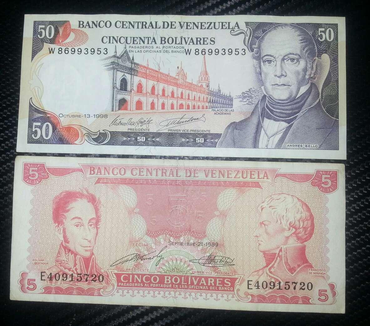Imagen producto Pesos y bolívares billetes del mundo  4