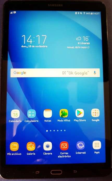Imagen Vendo Tablet Samsung Galaxy A(2016) 10.1. GARANTÍA OFICIAL ACTIVADA DE 17 MESES. 1Gb RAM; 32Gb Memoria