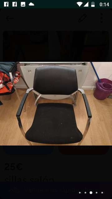 Imagen producto Sillas nuevas ,los asientos de terciopelo negro  ,nunca usadas por q no me caben en mi nueva casa 3