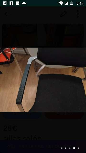 Imagen producto Sillas nuevas ,los asientos de terciopelo negro  ,nunca usadas por q no me caben en mi nueva casa 2