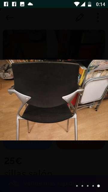 Imagen sillas nuevas ,los asientos de terciopelo negro  ,nunca usadas por q no me caben en mi nueva casa