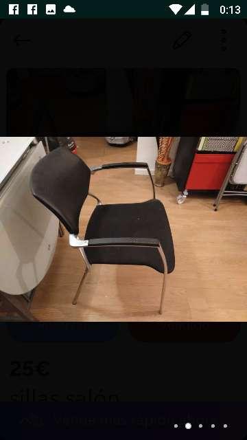 Imagen producto Sillas nuevas ,los asientos de terciopelo negro  ,nunca usadas por q no me caben en mi nueva casa 6