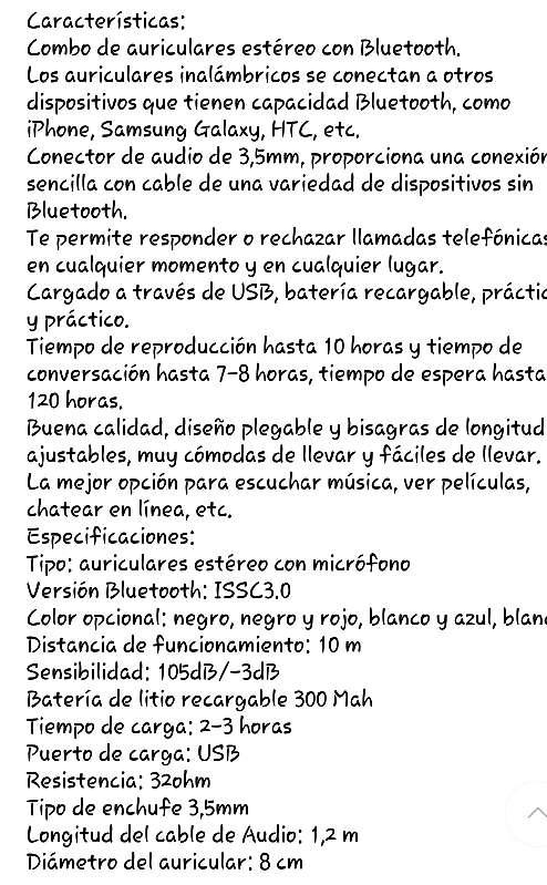 Imagen producto Auriculares inalámbricos nuevo  4