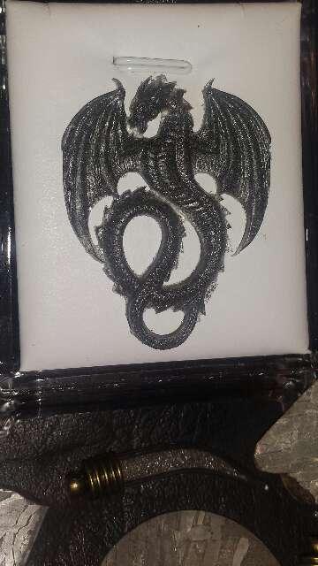 Imagen producto Dragón con polvo de meteorito metálico  3