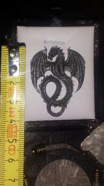 Imagen producto Dragón con polvo de meteorito metálico  4