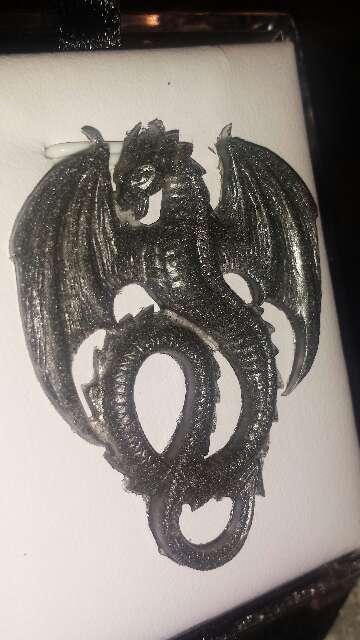 Imagen producto Dragón con polvo de meteorito metálico  5