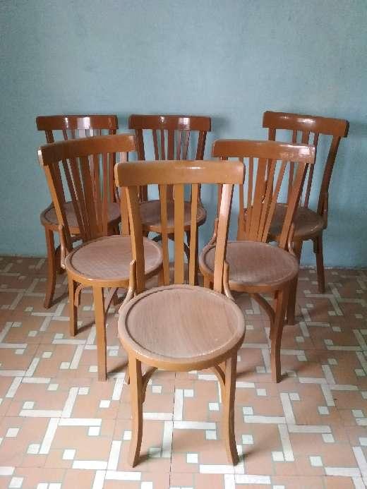 Imagen sillas vintage de madera años50_ 60