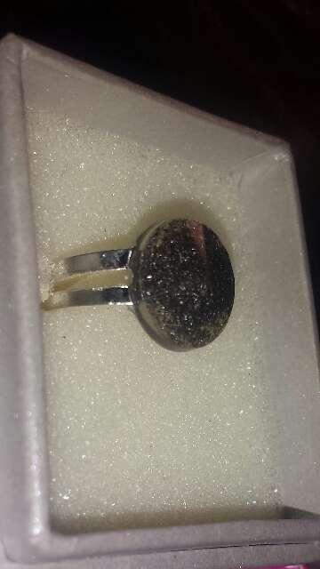Imagen producto Anillo polvo de meteorito circular  4