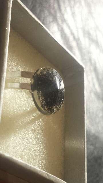 Imagen producto Anillo polvo de meteorito circular  7
