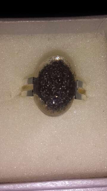 Imagen producto Anillo polvo de meteorito ovalado 5