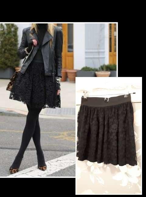 Imagen Falda de encaje negra