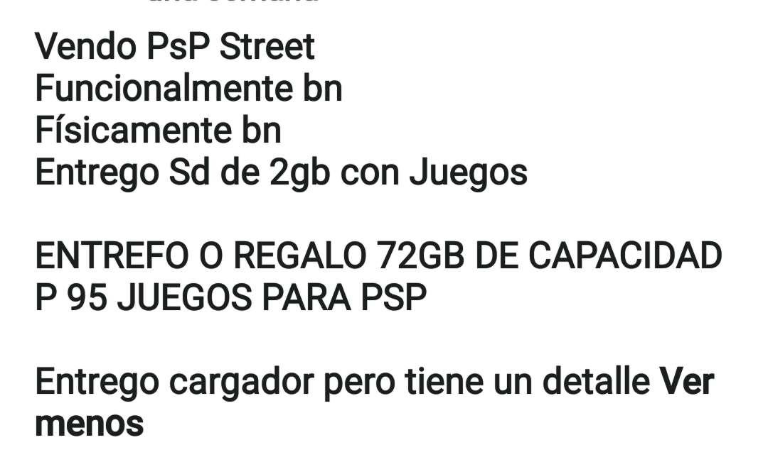 Imagen producto PSP street 3