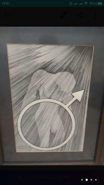 Imagen producto 2 cuadros dibujados a mano 2
