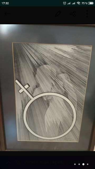 Imagen producto 2 cuadros dibujados a mano 3