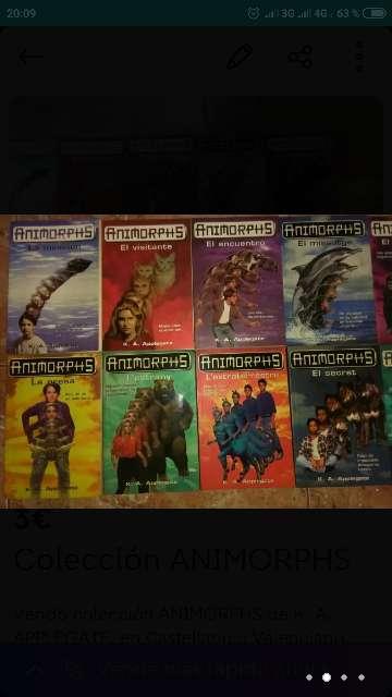 Imagen producto Colección ANIMORPHS 2