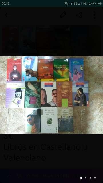 Imagen Libros en Castellano y Valenciano