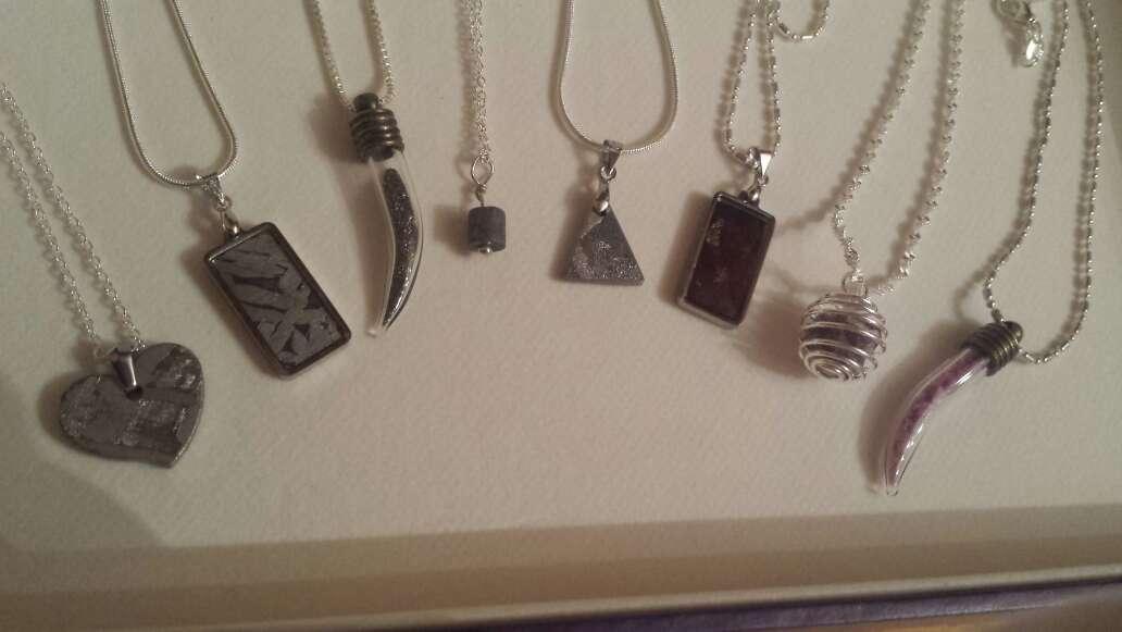 Imagen lote 9 piezas de joyería plata, meteorito