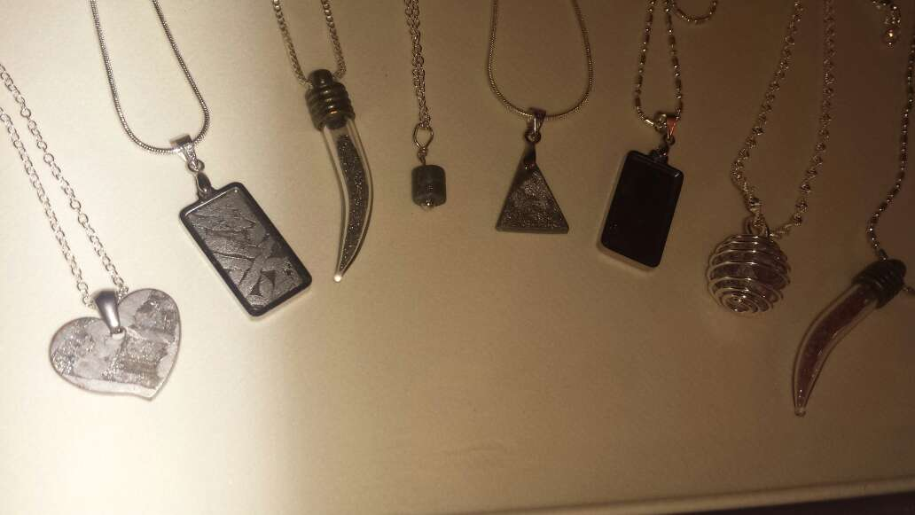 Imagen producto Lote 9 piezas de joyería plata, meteorito  2