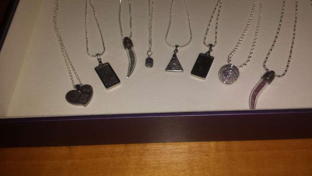 Imagen producto Lote 9 piezas de joyería plata, meteorito  4
