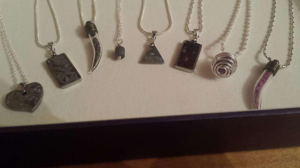 Imagen producto Lote 9 piezas de joyería plata, meteorito  5