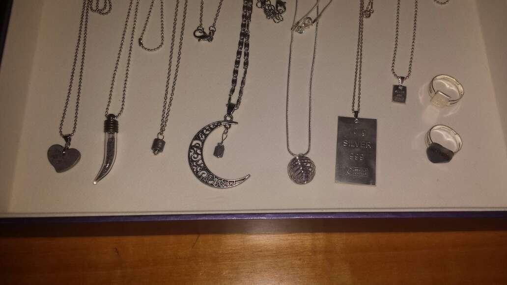 Imagen producto Lote 9 piezas de joyería plata, meteorito  8