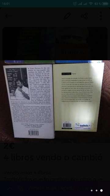 Imagen producto 4 libros vendo o cambió 2