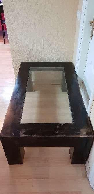 Imagen producto Mesa centro madera rustica barnizada  2