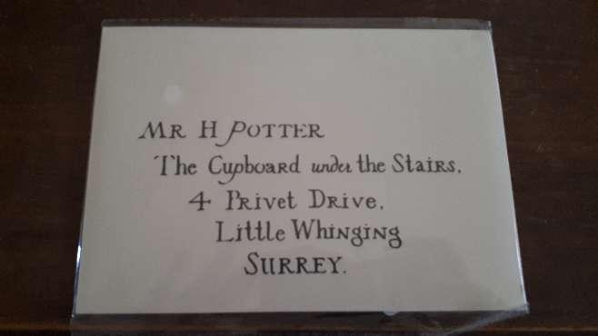Imagen Carta Harry Potter Hogwarts y Personalizada