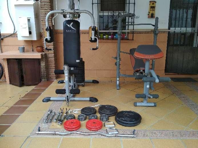 Imagen Máquinas, pesas y barras gimnasio