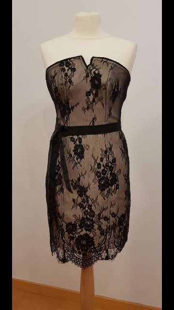 Imagen producto Vestido fiesta encaje negro nuevo 1