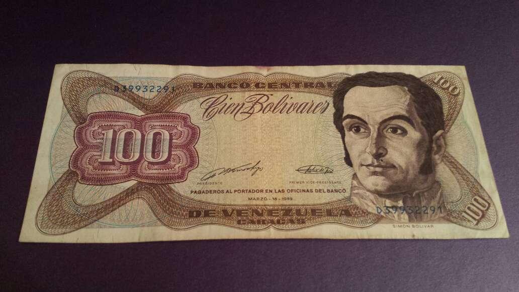 Imagen 100 bolívares serie D