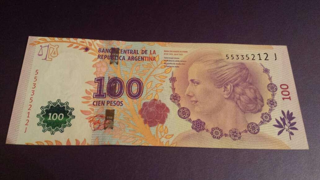 Imagen 100 pesos serie J