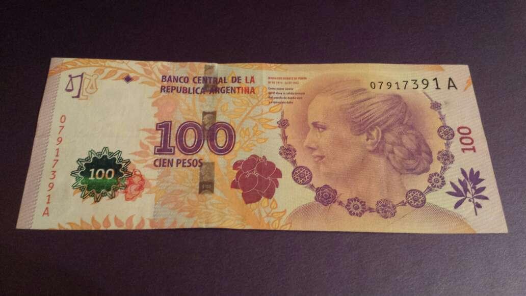 Imagen 100 pesos serie A