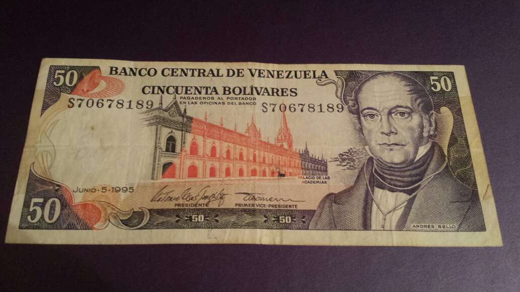 Imagen producto 50 bolívares 1995 serie S 1
