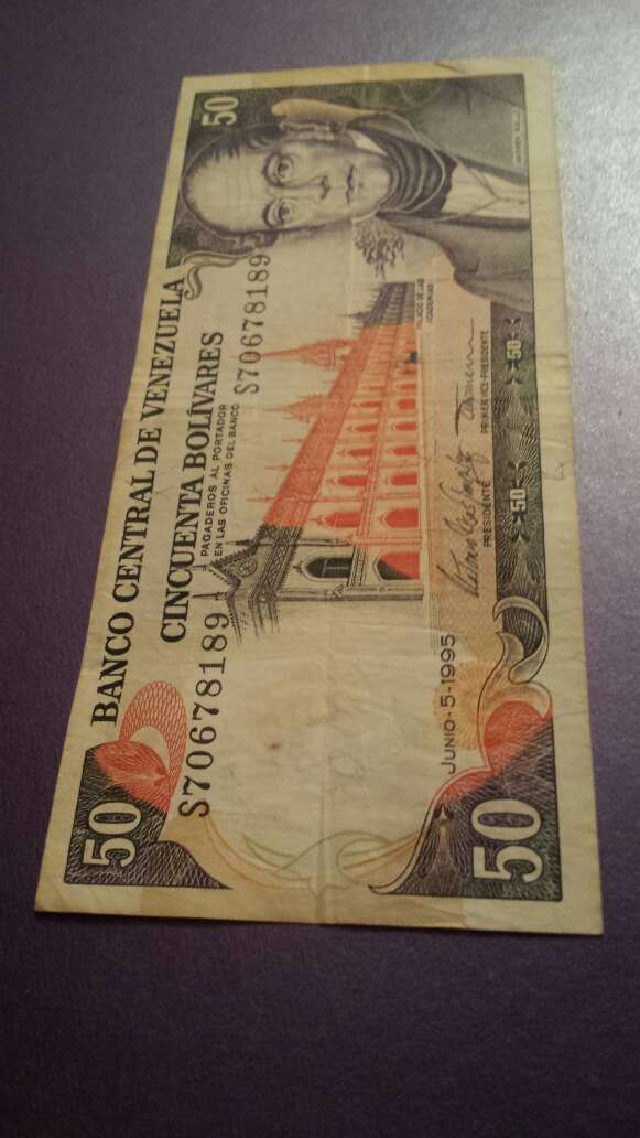 Imagen producto 50 bolívares 1995 serie S 2